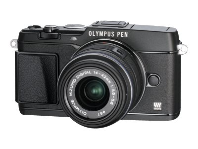 Olympus E-P5 PEN Mirrorless Digital Camera with 17mm f 1.8 Lens and VF-4 Viewfinder, Black, V204053BU000, 15751923, Cameras - Digital