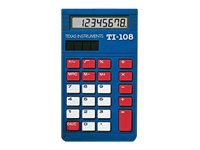 TI TI 108 Basic Solar Calculator, 108/BK/D, 16366816, Calculators