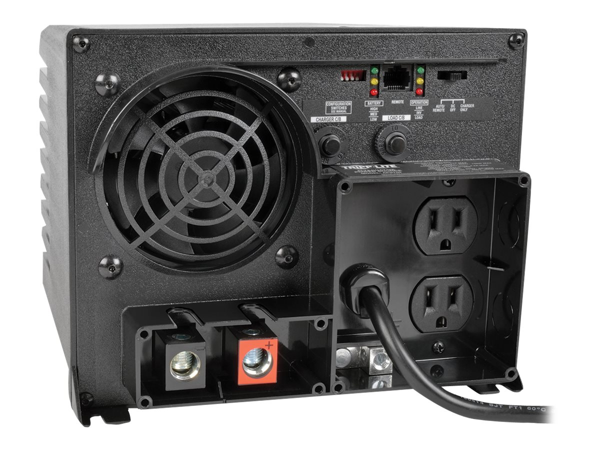 Tripp Lite 750W 12V DC to AC Inverter with Automatic Line-to-Battery 20-Amp Charger
