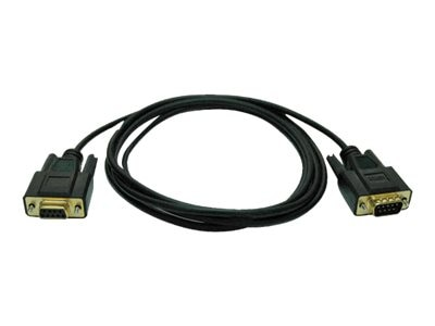 Tripp Lite Null Modem Gold Cable (DB9F-DB9M), Black, 6ft, P454-006, 219082, Cables
