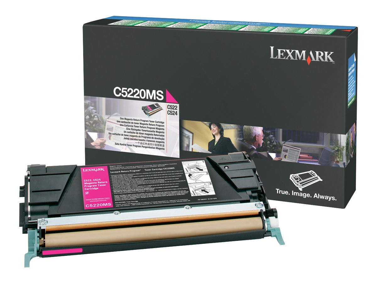 Lexmark Magenta Return Program Toner Cartridge for C522n, & C524 Series Printers, C5220MS