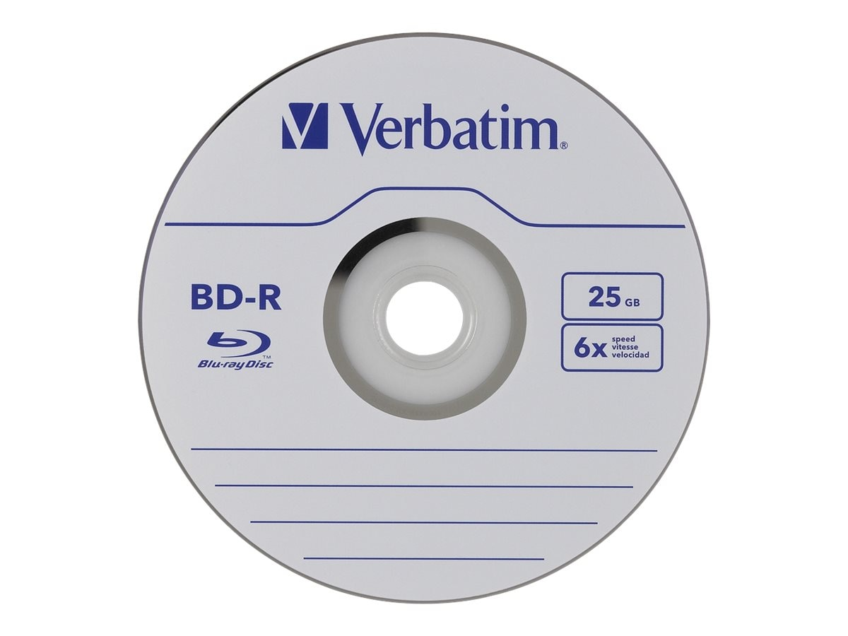 Verbatim 6x 25GB BD-R Media (25-pack Spindle), 97457