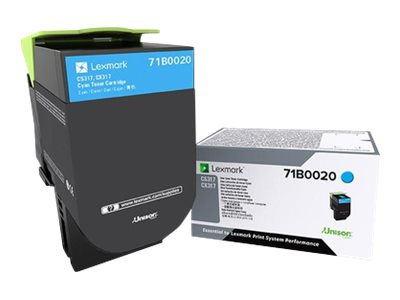 Lexmark Cyan Toner Cartridge for CS317dn & CX317dn, 71B0020