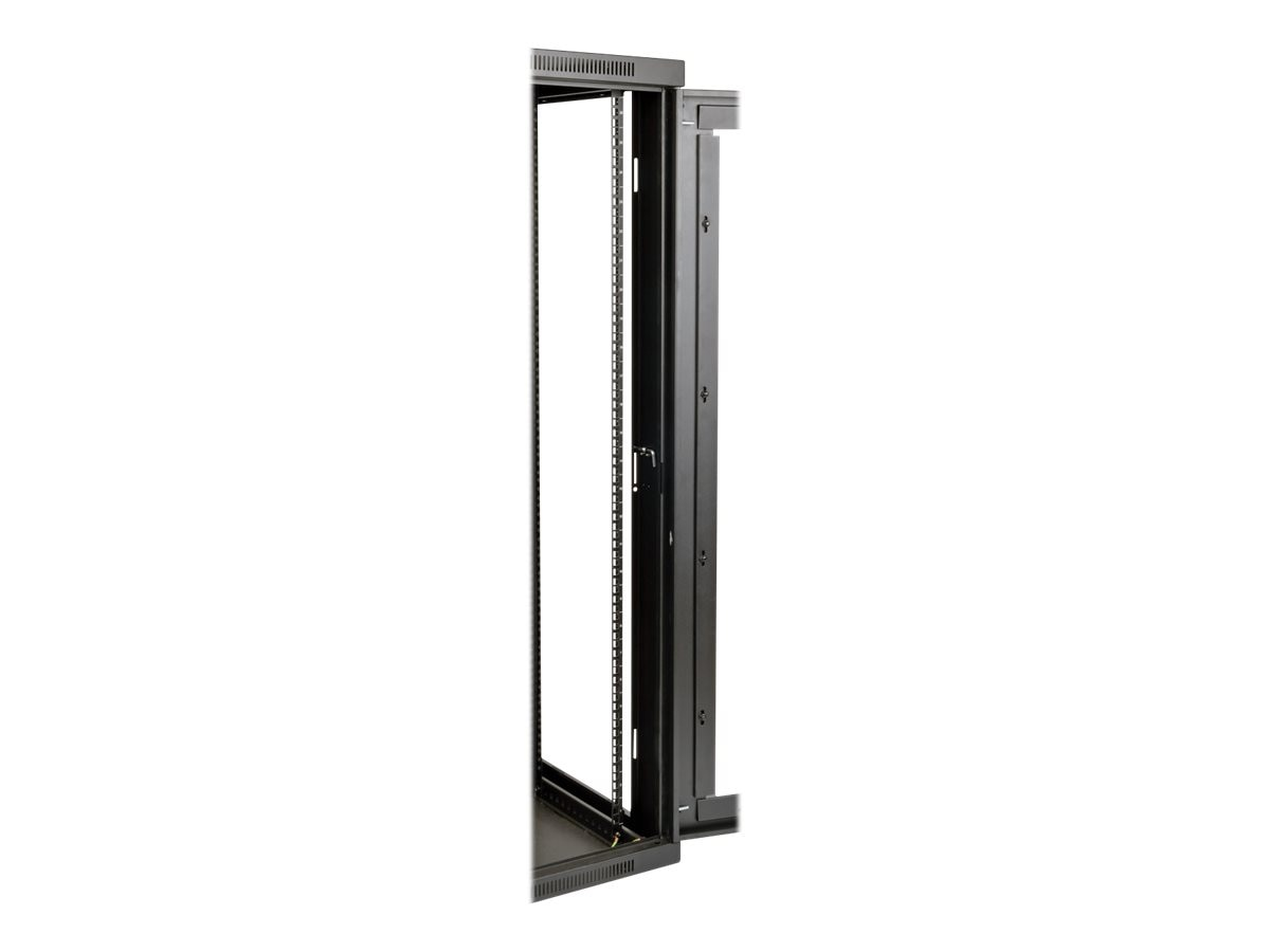 Tripp Lite SmartRack 26U UPS-Depth Wall-Mount Rack Enclosure Cabinet w  Clear Acrylic Window, Hinged Back, SRW26USDPG