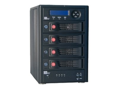CRU RTX Secure 410-3QR 4-Bay Encrypted RAID Enclosure - AES 256-bit, 35450-3130-0100, 14595800, Hard Drive Enclosures - Multiple