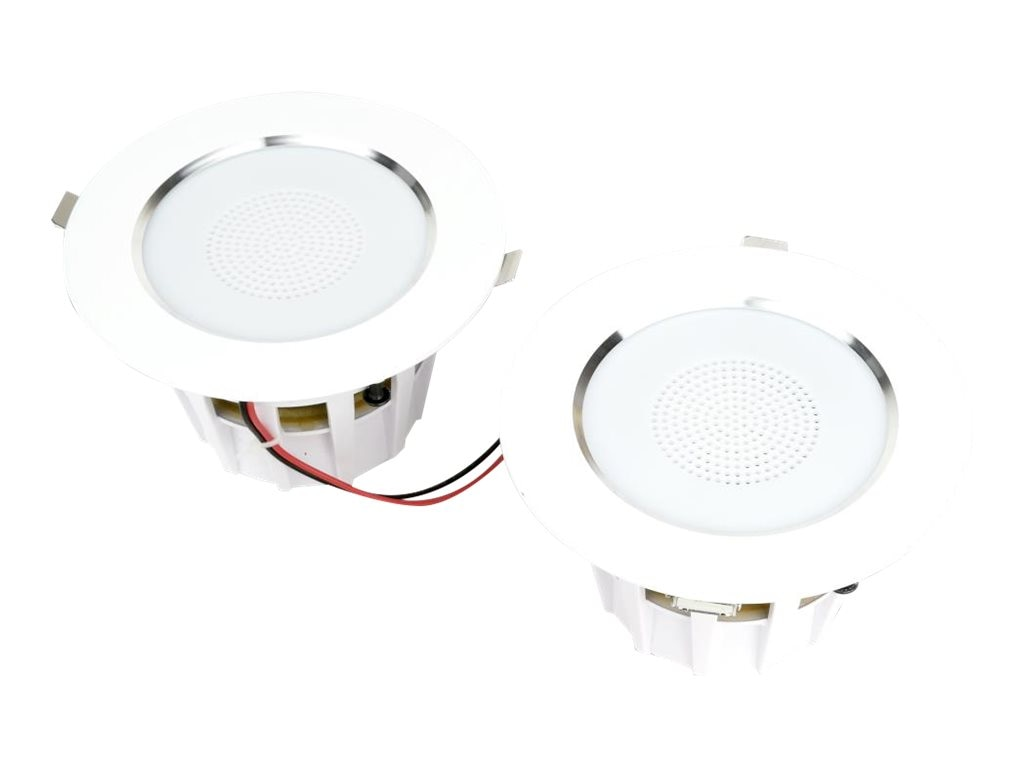 Pyle 4 BT Ceiling Wall 2-Way Speaker Pair w  Built-In LED Light