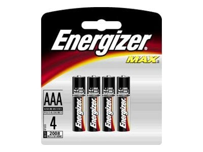 Energizer 1.5 volt AAA Alkaline batteries, 4-pack, E92BP-4, 8464598, Batteries - Other