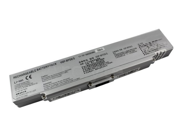Arclyte Battery Performance-Lithium Li-Ion 11.1V 5200mAh 6-cell for Sony Vaio, Silver