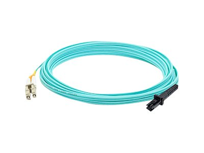 ACP-EP LC to MT-RJ OM3 Multimode Fiber Duplex Patch Cable, Aqua, 5m, ADD-LC-MTRJ-5M5OM3