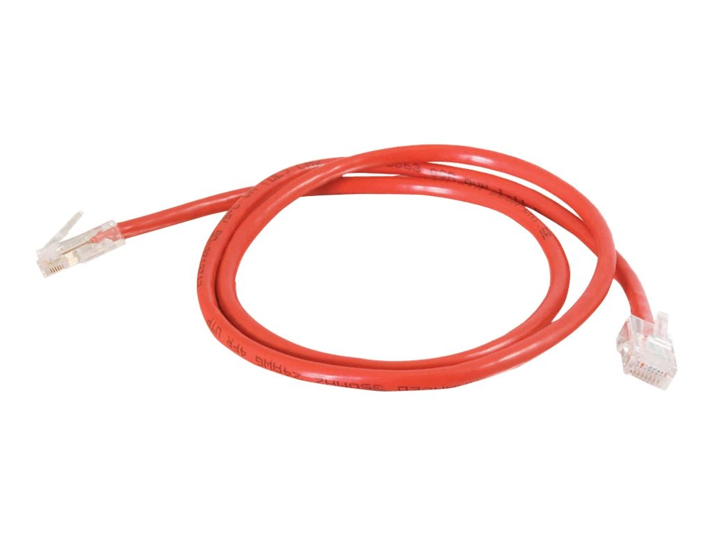 C2G Cat5e Non-Booted Unshielded (UTP) Network Patch Cable - Red, 12ft