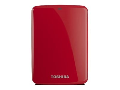 Toshiba 1TB Canvio Connect USB 3.0 Portable Hard Drive - Red, HDTC710XR3A1