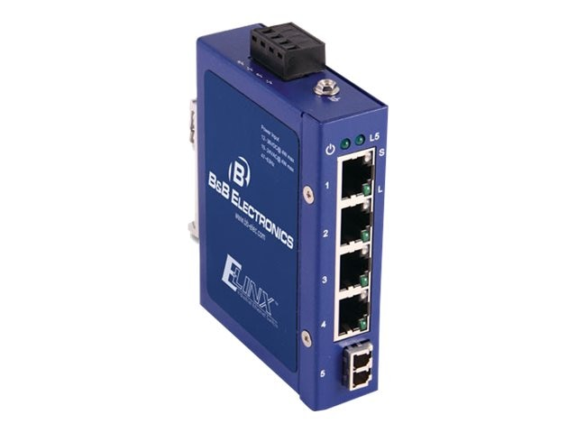 Quatech Unmanaged 1 SM LC 5-port Compact Ethernet Switch, ESW105-SL