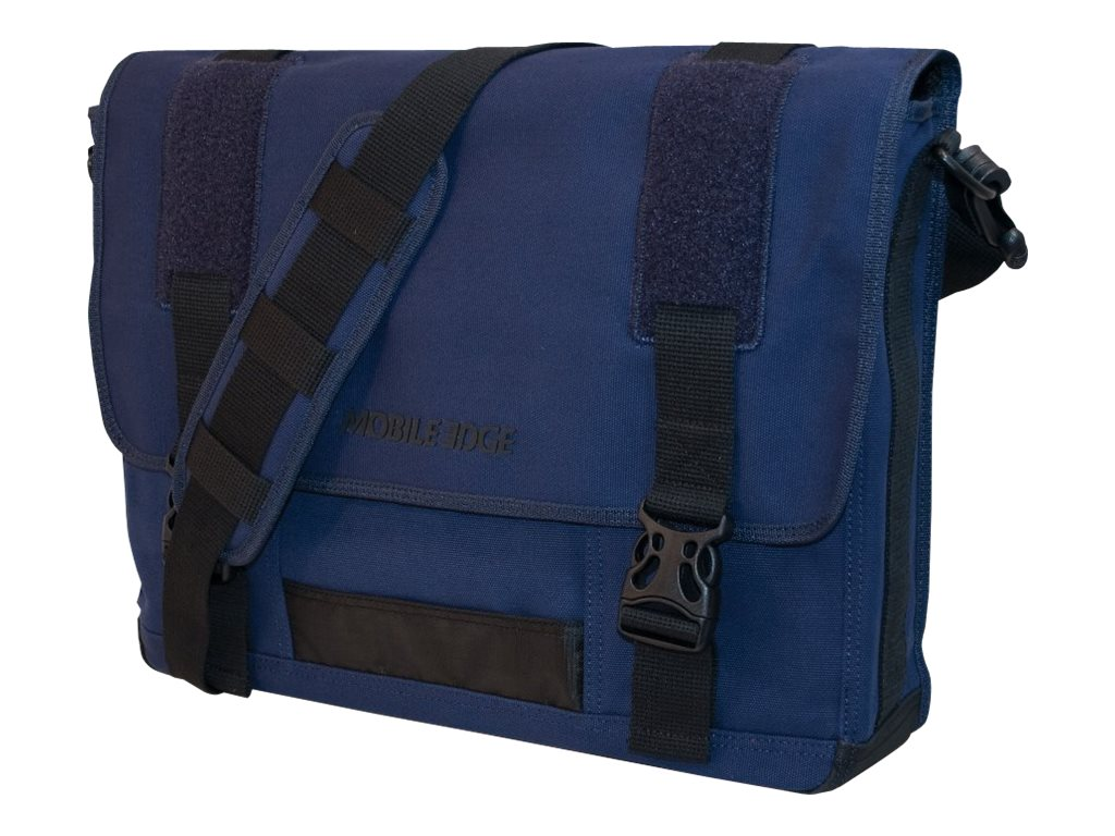 Mobile Edge Eco-Friendly Canvas Messenger, Navy, MECME3, 9837755, Carrying Cases - Notebook