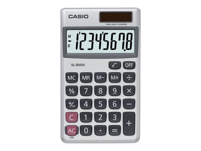 Casio XL Display Solar Calculator, SL-300SV