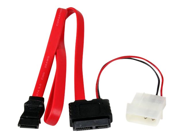 StarTech.com Slimline SATA (F) to SATA with LP4 Power Cable Adapter, 20in