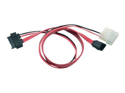 Tripp Lite Slimline SATA to SATA   LP4 Power Cable Adapter, 1ft