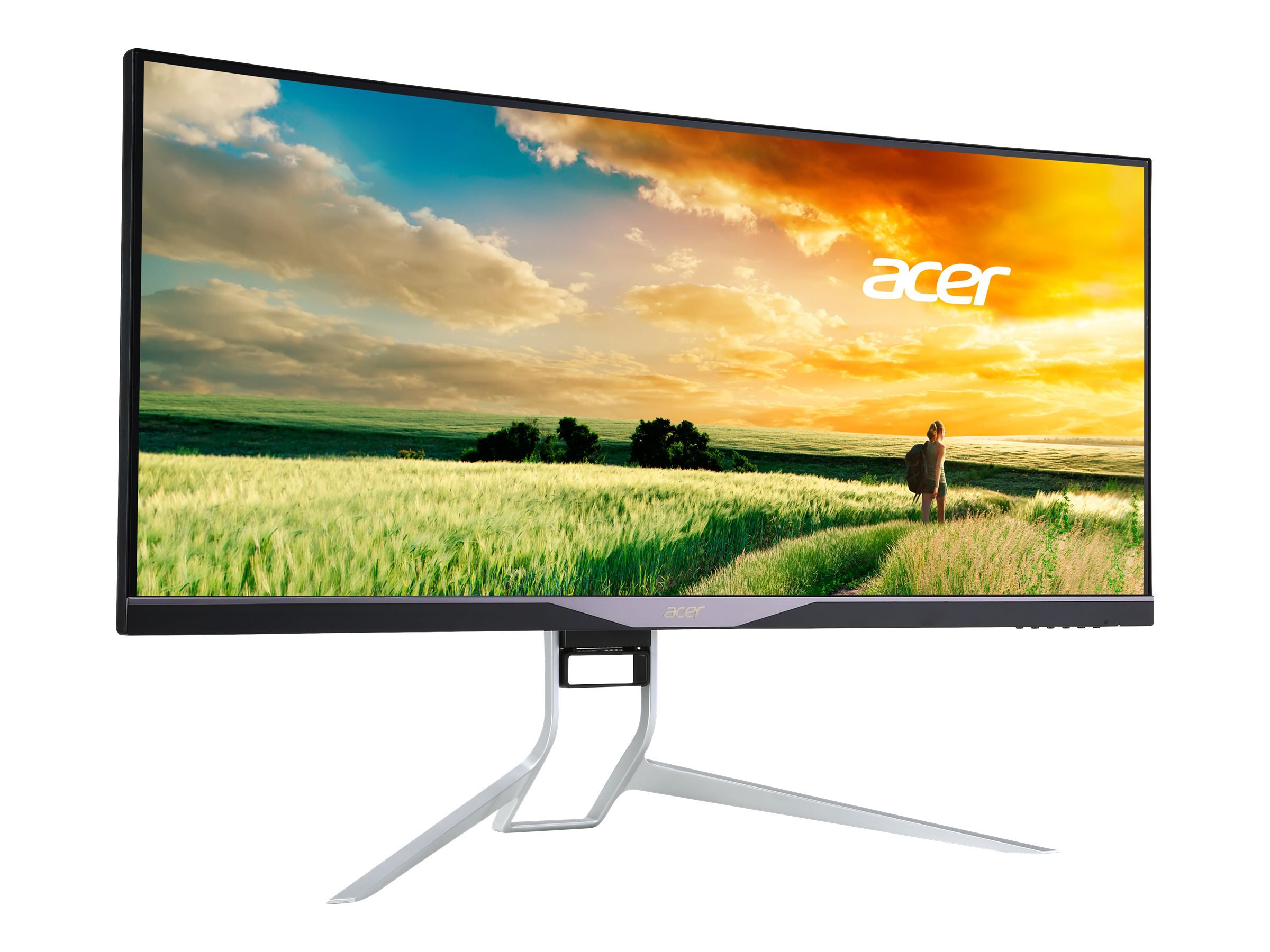 Acer 34 X34 BMIPHZ QHD LED-LCD UltraWide Curved Monitor, Black, UM.CX1AA.A01