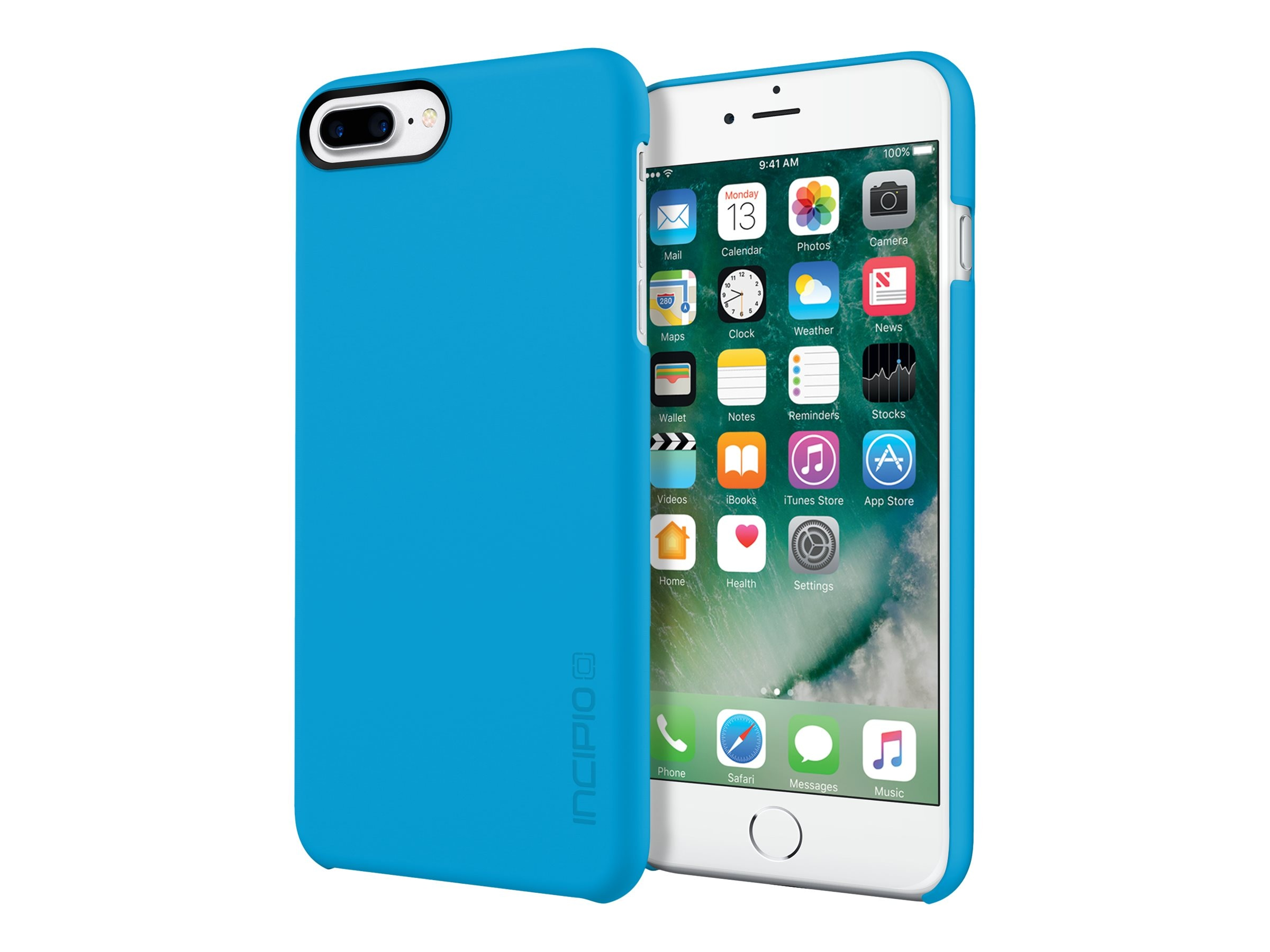 Incipio Feather Ultra Light Snap-On Case for iPhone 7 Plus, Cyan, IPH-1493-CYN