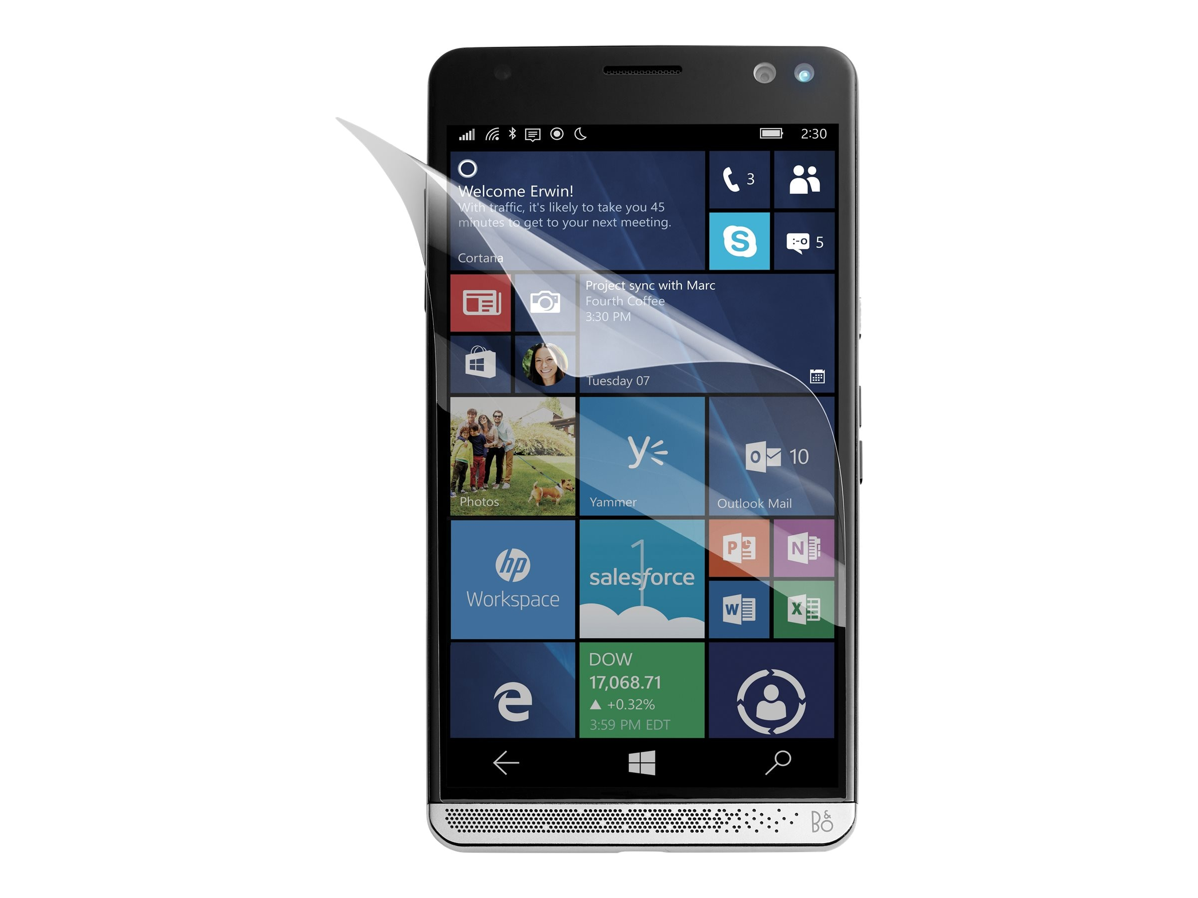 HP Elite x3 Anti-Shatter Glass Screen Protector, W8W94AA