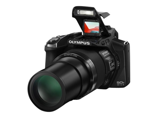 Olympus SP-100 Digital Camera, 16MP, 50x Zoom, Black, V103070BU000, 17005861, Cameras - Digital - Point & Shoot