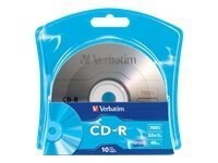 Verbatim 52x 700MB 80min. Branded CD-R Media (10-pack), 96932, 14345245, CD Media