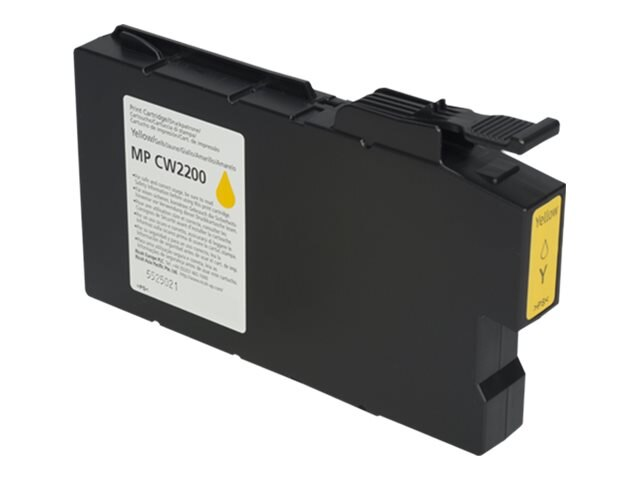 Ricoh Yellow High Yield Ink Cartridge for Aficio MPCW2200SP, 841723