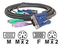 IOGEAR Micro-Lite KVM All-In-One PS 2 Cable, 10ft (G2L5003P), G2L5003P, 441383, Cables