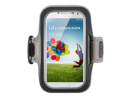 Belkin Slim-Fit Armband for Samsung Galaxy S4, Black, F8M558BTC00, 15960979, Carrying Cases - Phones/PDAs