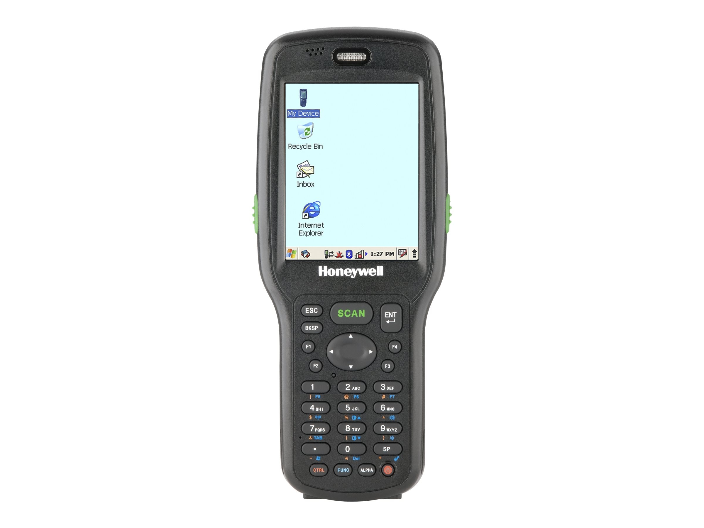 Honeywell Dolphin 6500 BT Imager 52-key 128MB RAM Flash Extd Batt P S H S Stylus Win CE 5.0, Black