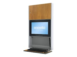 Enovate E550 Hall Wall Station with eSensor System, Wild Cherry, E550S4-N4L-01WC-0, 16911423, Computer Carts - Medical