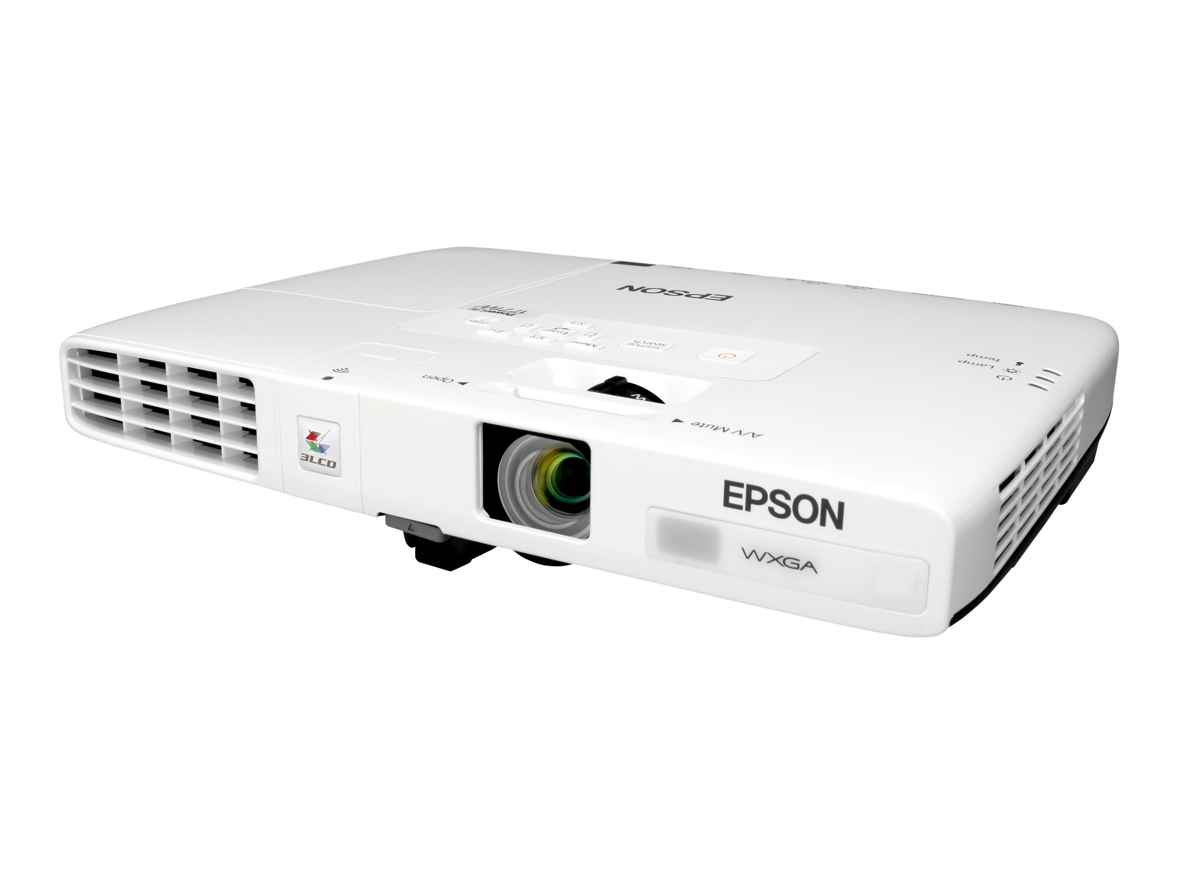 Epson PowerLite 1771W WXGA LCD Projector, 3000 Lumens, White, V11H477020, 14035247, Projectors