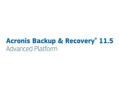 Acronis Govt. Backup & Recovery 11.5 Advanced Workstation Bndl w URDD Maint AAP Gov 1-9U