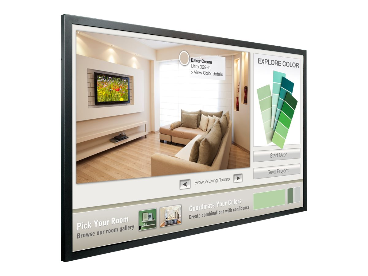 Planar 55 PS5561T Full HD LCD Multi-Touch Display, Black, 997-7656-00, 17820380, Monitors - Large-Format LCD