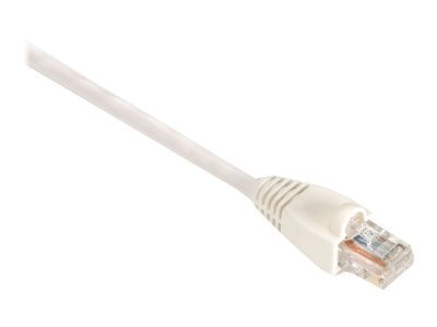 Black Box GigaBase CAT5E 350MHz UTP Snagless Patch Cable, White, 10ft