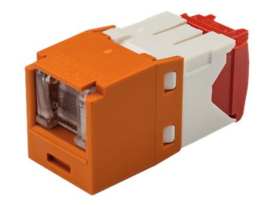 Panduit Cat5e RJ-45 8-position, 8-wire Spring Shuttered Universal Jack Module, Orange, CJH5E88TGOR
