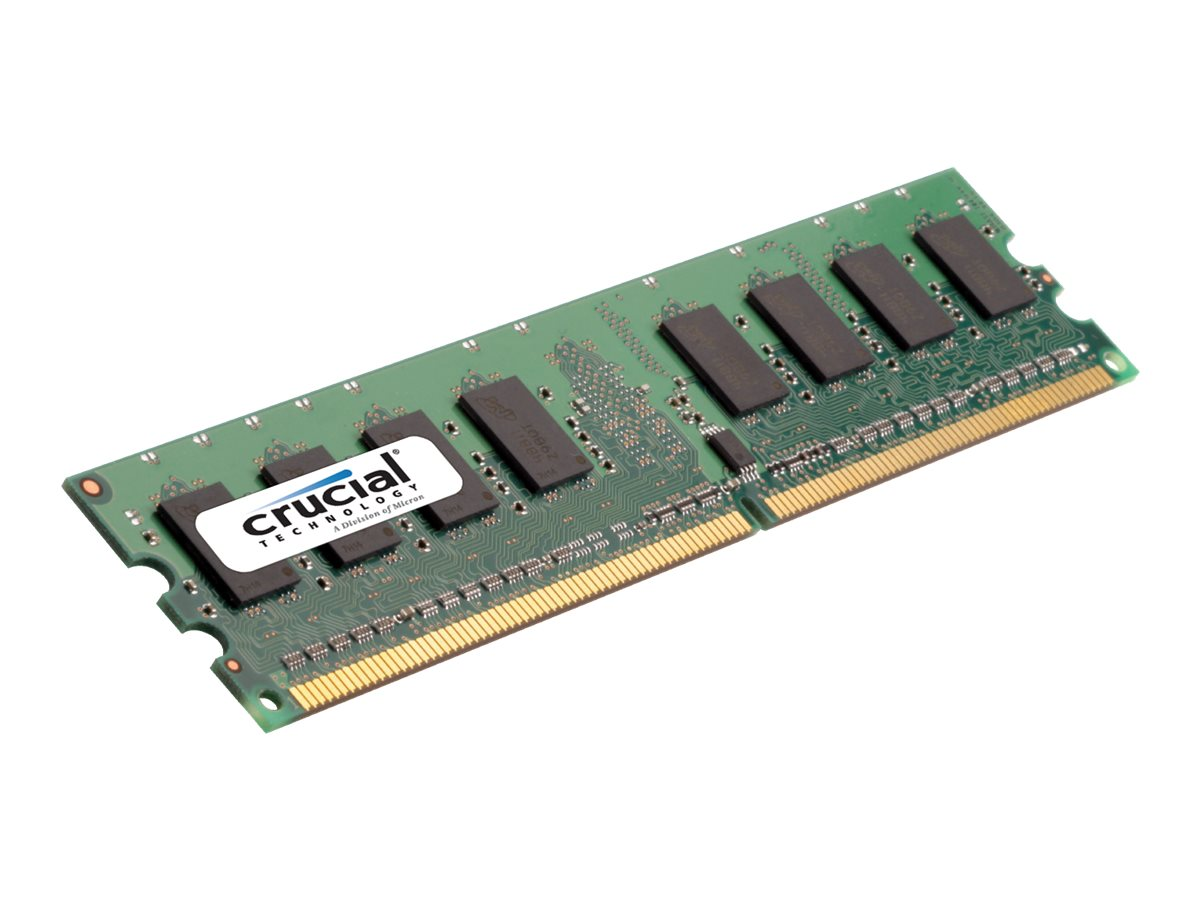Crucial 2GB PC2-6400 240-pin DDR2 SDRAM UDIMM, CT25664AA800, 9389972, Memory