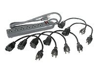 C2G Surge Suppressor (6) Outlet with (6) 1ft. Outlet-Saver Power Extension Cords, 35549, 7900861, Surge Suppressors
