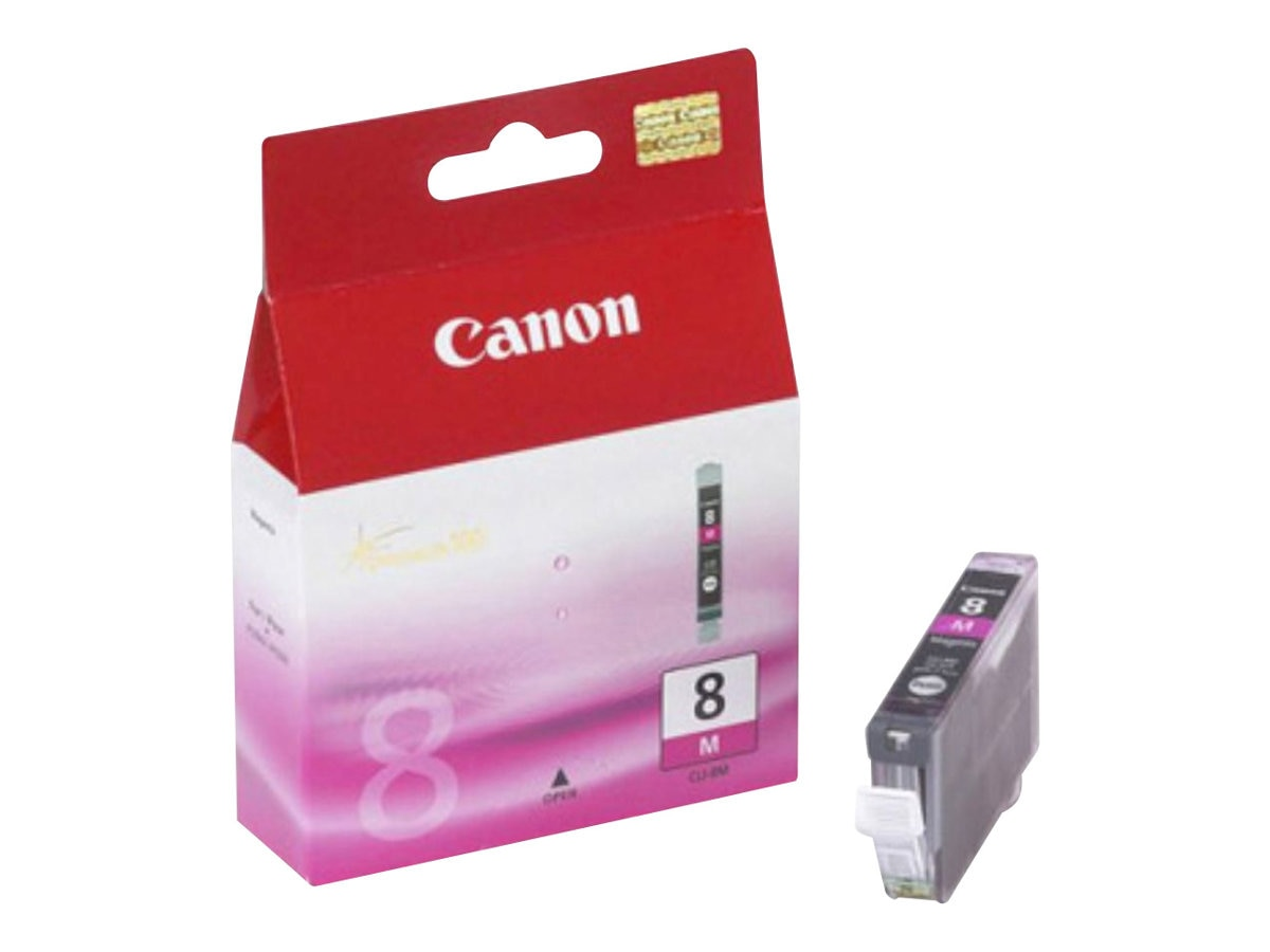 Canon Magenta CLI-8M Ink Cartridge for PIXMA Series Printers, 0622B002