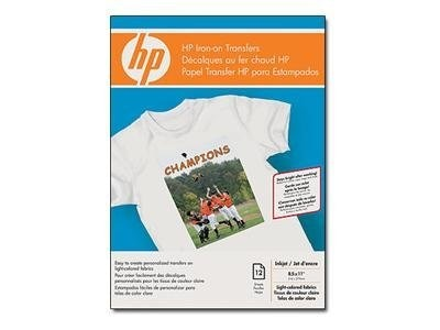HP Iron-on T-Shirt Transfers - 10 Sheets C6049A, C6049A, 49918, Paper, Labels & Other Print Media