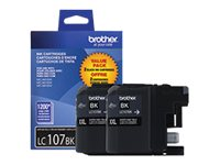 Brother Black LC107BK Innobella Super High Yield (XXL Series) Black Ink Cartridges for MFC-J4510DW (2-pack), LC1072PKS, 14714792, Ink Cartridges & Ink Refill Kits
