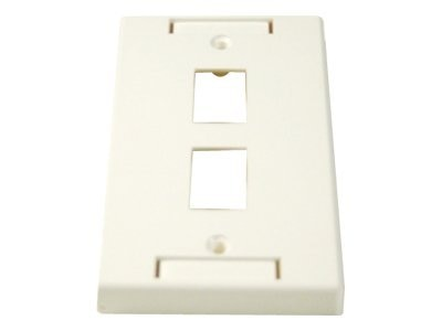 Micro Connectors 2-Port Single-Gang Modular Wall Plate (White), FRT-815-2, 7812440, Premise Wiring Equipment