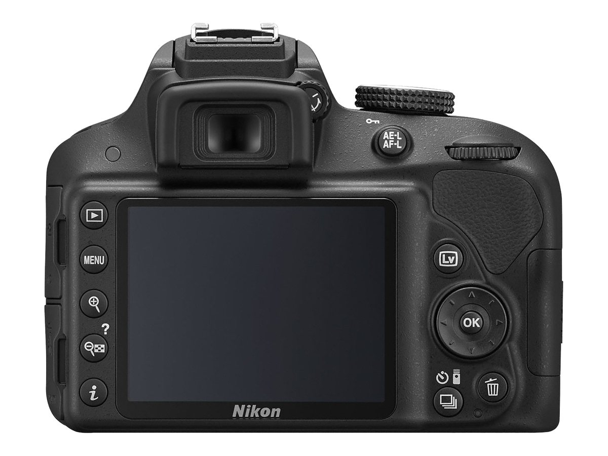 Nikon D3300 DSLR Camera, Black with 18-55mm Lens, 1532