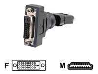 C2G 360° Rotating HDMI Male to DVI-D Female Adapter, 40932, 11860049, Adapters & Port Converters