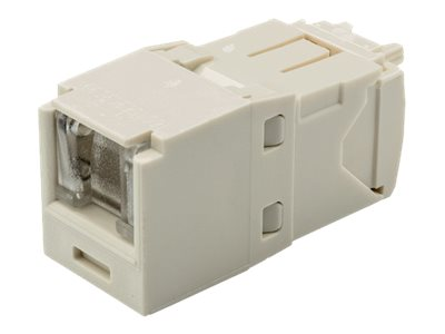 Panduit CAT6 8-Position Spring Shuttered UTP Jack Module, Off White, CJH688TGIW