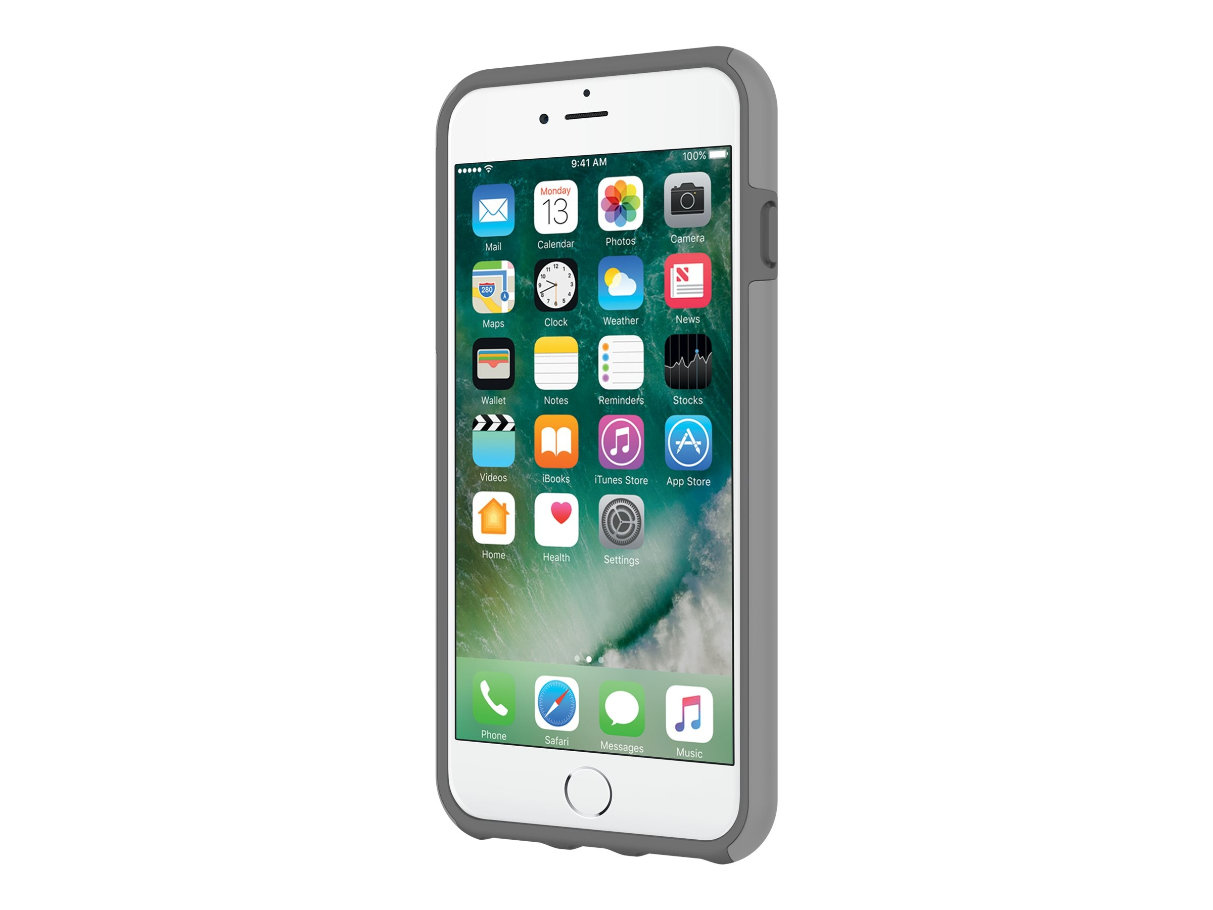 Incipio DualPro Original Dual Layer Protective Case for iPhone 7 Plus, Gray Charcoal