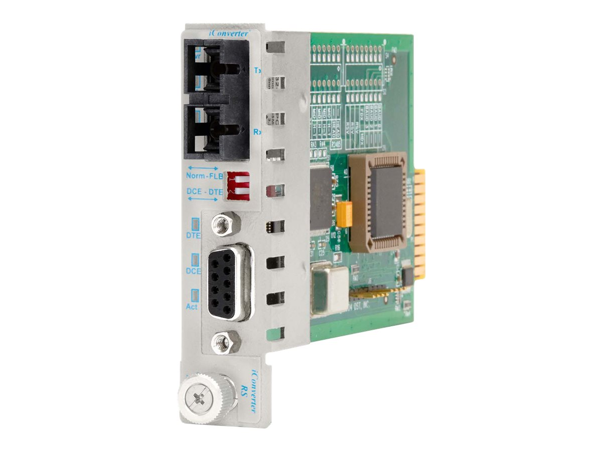 Omnitron iConverter Module RS-232 DB9 to SC SM Fiber 1310nm 30km, 8763-1, 8899276, Network Transceivers