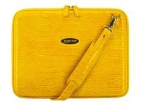 Mobile Edge Faux-Croc TechStyle Portfolio, Yellow, MEPFC4, 5873126, Carrying Cases - Notebook
