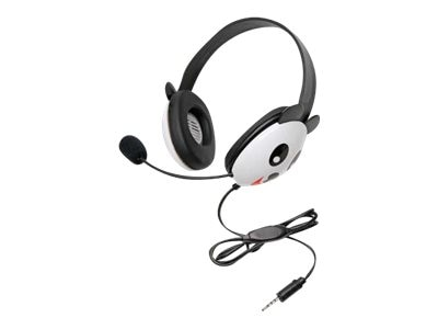 Ergoguys Listening First Stereo Headset with Dual 3.5mm Plugs, Panda, 2810PA-AV