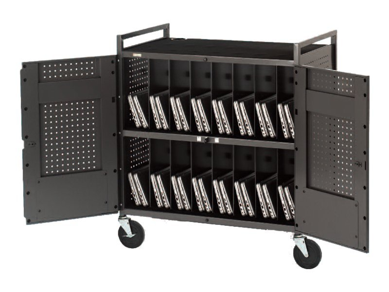 Bretford Manufacturing Computer Cart for 32 Netbooks, Silver, NETBOOK32-D, 13503643, Computer Carts