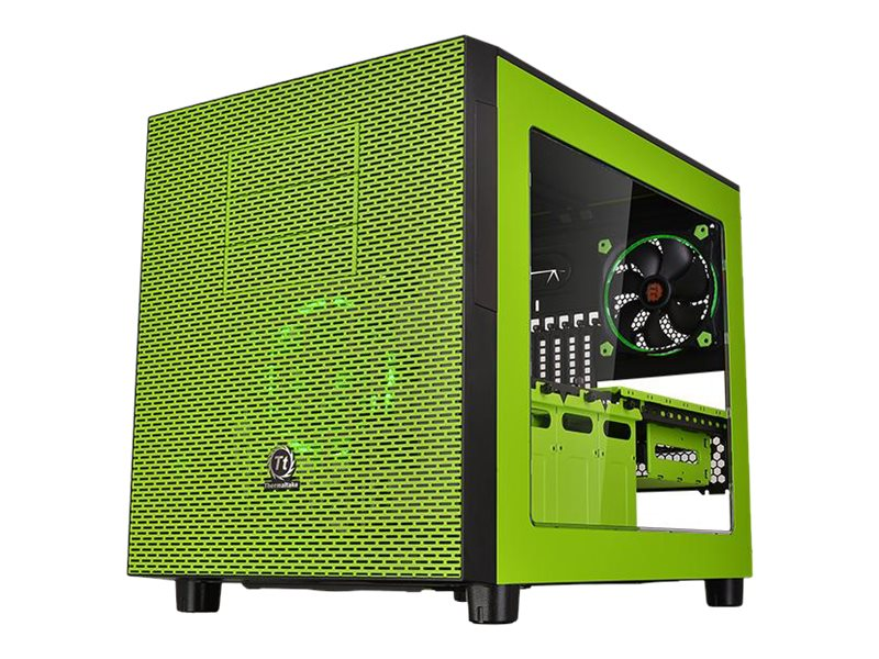 Thermaltake Chassis, Core X5 Green Riing Edition E-ATX 4x3.5 Bays 3x5.25 Bays 8xSlots 2xRiing Fans, Green, CA-1E8-00M8WN-00, 31484386, Cases - Systems/Servers